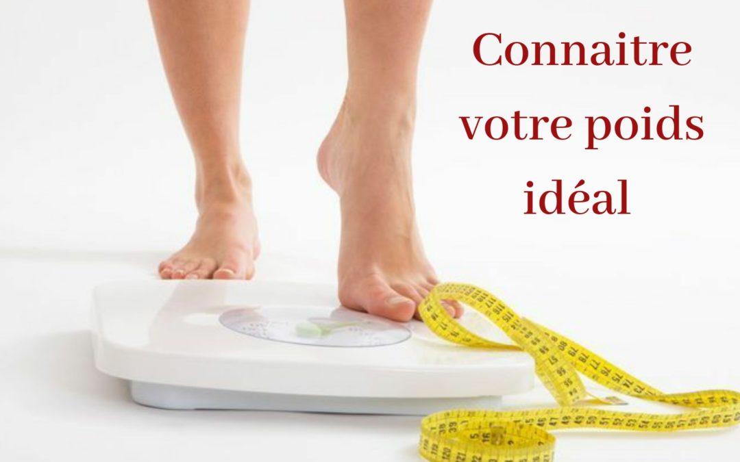 poids ideal